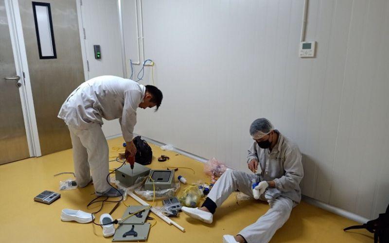 Hệ thống kiểm soát cửa chấm công lắp tại nhà máy Masan Hà Nam