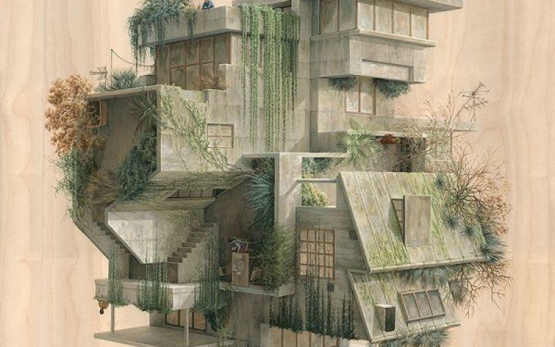Các minh họa kiến trúc siêu thực của Cinta Vidal Agulló
