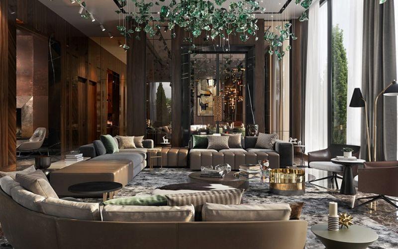 Thiết kế nội thất rực rỡ và phá cách của biệt thự hiện đại sang trọng