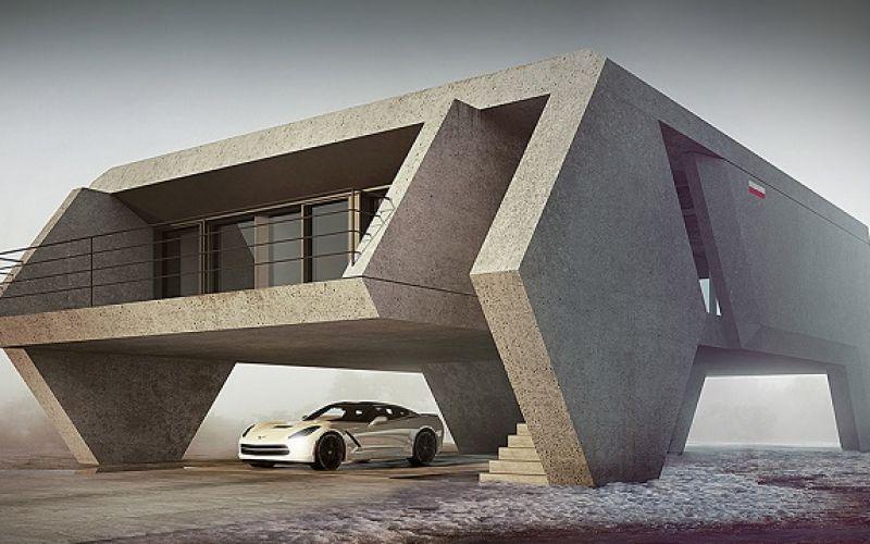 Những ngôi nhà kiến trúc bê tông chắc chắn sẽ khiến bạn yêu thích