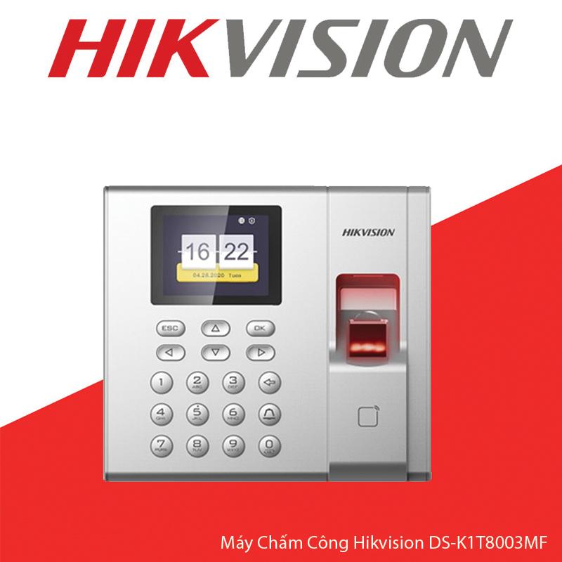 máy chấm công vân tay DS-K1T8003MF