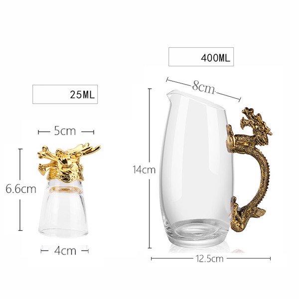 kích thước bộ rượu 12 con giáp