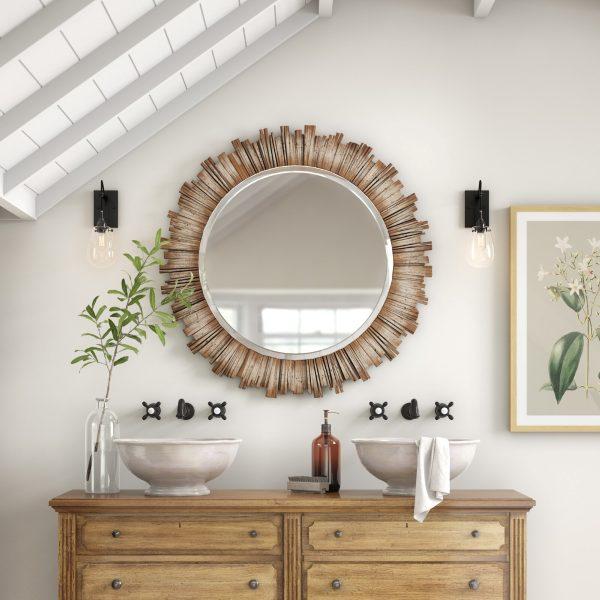 Gương tròn treo tường